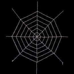 Toile d'araignée géante blanche 3.60mx3.60m