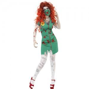 costume femme zombie infirmière de bloc