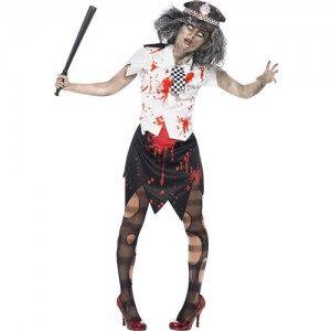 costume femme zombie police