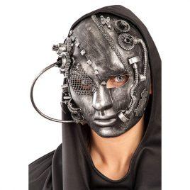 Masque total steampunk argent