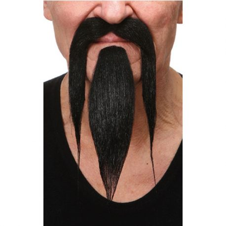 Moustache barbe luxe chinois noires