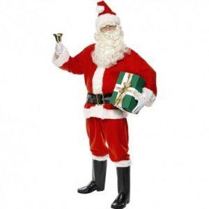 Costumes de Père Noël avec cadeau vert