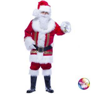 Costume de Père Noël décoré