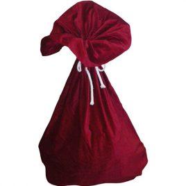 Hotte du Père Noël velours rouge
