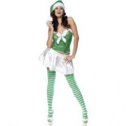 Costume de Mère Noël sexy verte