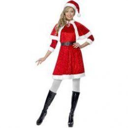 Costume de Mère Noël rouge