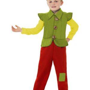 costume elfe enfant rouge vert jaune