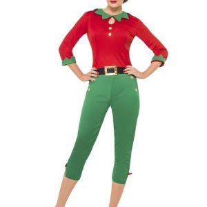 costume miss santa elfe