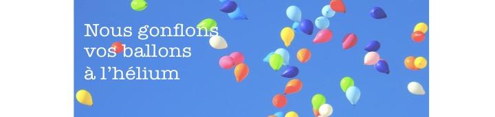 Gonflage de ballons à l'hélium sur  place